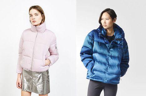 Na foto (zleva): Světle růžová bunda, Bershka, 899 Kč. Modrá teplá bunda s leskem, Adidas, 2699 Kč; archiv firem