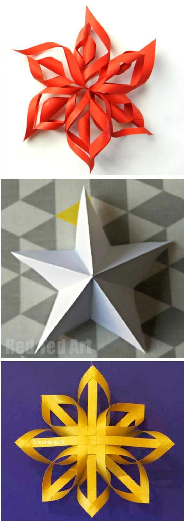 3 ways to make 3D Paper Stars