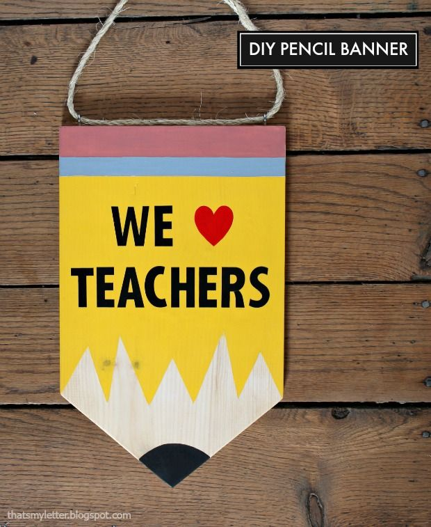 diy pencil banner - perfect for front door, classroom or back to school party!