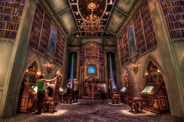 Places Of Fancy Belles Library A Replica Beauty And The Beasts At California Adventure In Disney Animation Building