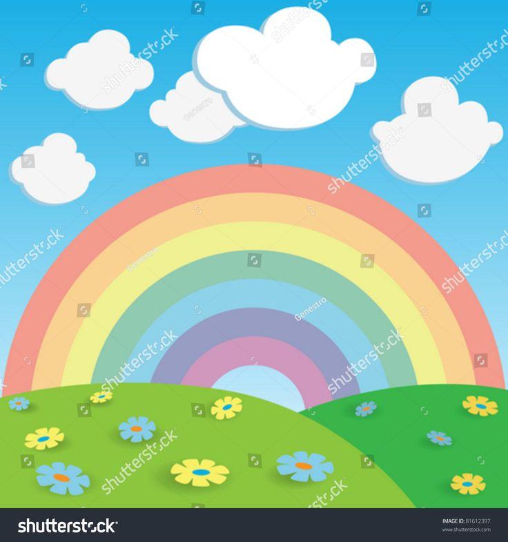Cloudy sky cartoon background PSDGraphics