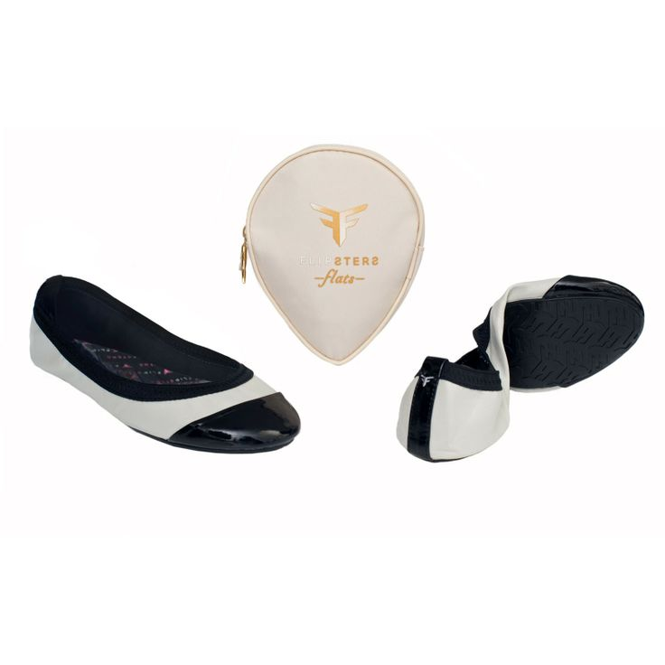 Flipsters Foldable Ballet Flats - Beige & Black