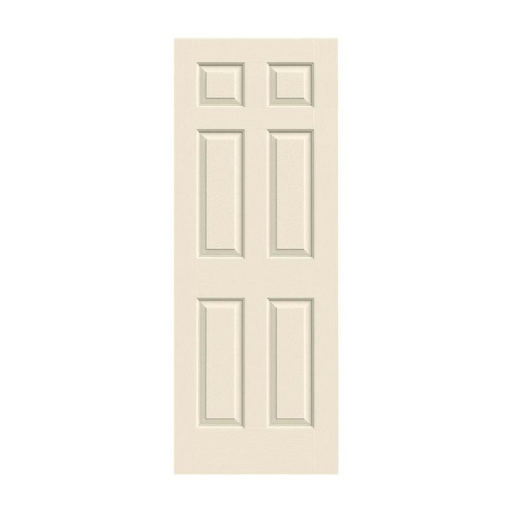 JELD WEN 28 In. X 80 In. Molded Textured 6 Panel Primed