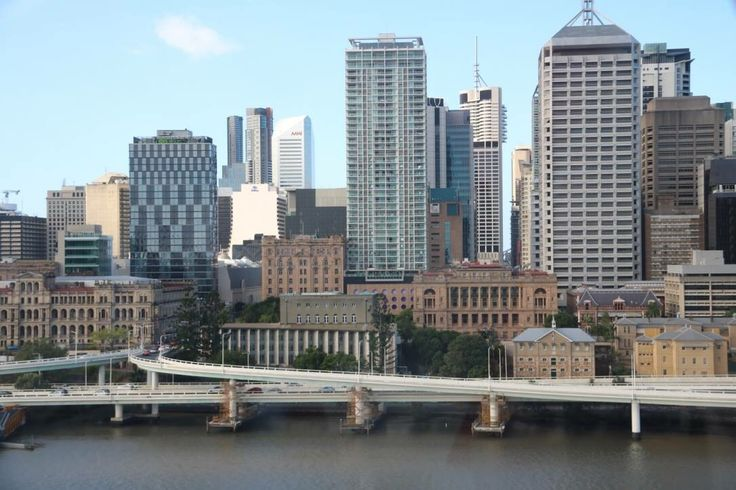 View of city from wheel of brisbane