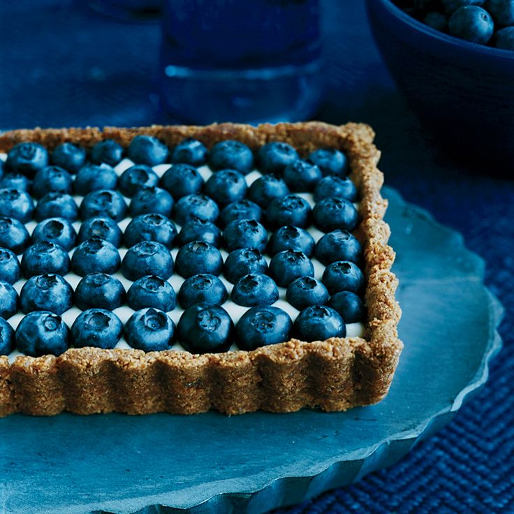 Honeyed Yogurt and Blueberry Tart with Ginger Crust | Food & Wine