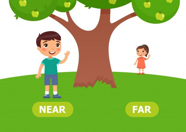 Image result for kindergarten near and far clipart