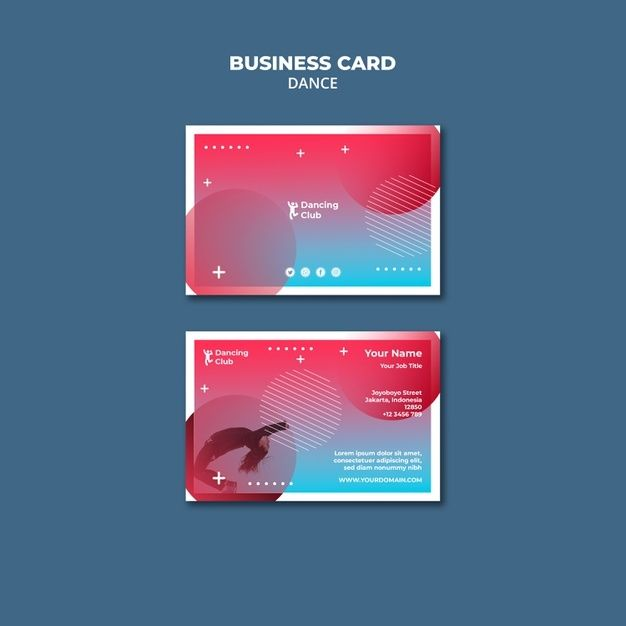 Download Colorful Dance Business Card Template For Free Business Card Template Card Template Dance Business