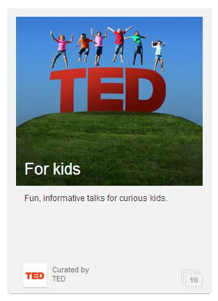 """I want to highlight the TED playlist for kids. It's a collection of 10 talks ranging from """"Mathemagic"""", evolving dance, science for everyone and…"""