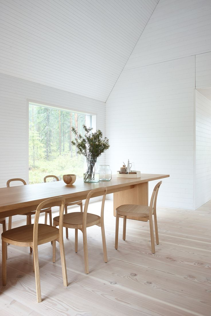 dining room in House K by Hirvilammi Architects