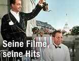 """Peter Alexander und Gunther Philipp im Film  """"Die lustige Witwe"""""""