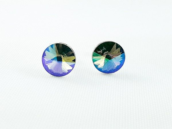 Silver Earrings Mix Colour Stud Girl's Earrings, Crystal Earrings, Swarovski Crystals, Gift for Girl, Christmas gift for Girl, fast shipping by modotikon on Etsy 50% off coupon code MODO2016