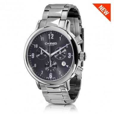 C3 Malvern Chronograph MK II Watch with Steel Bracelet, C3SCS-MK2 - Christopher Ward
