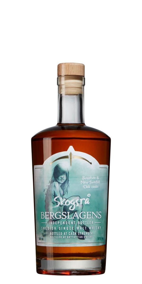 Skogsrå, label by David Cederlöf. Whisky by Bergslagens Destilleri