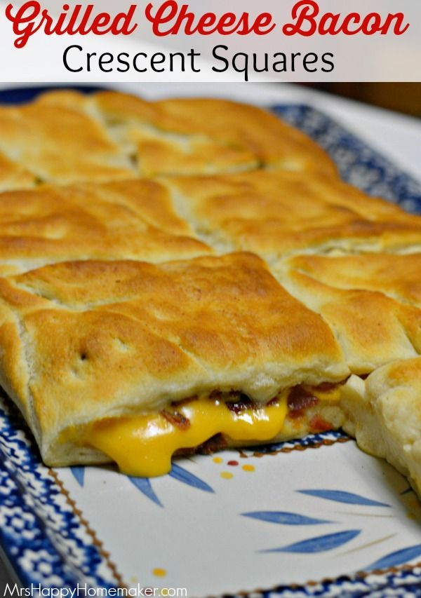 My Grilled Cheese Bacon Crescent Squares are insanely delicious. Only needs 3 ingredients! This is a blockbuster of a recipe! Guaranteed to be an instant favorite!