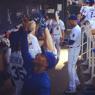 Pre-game high fives with Dyson and Hosmer. We're ready for a ballgame. #ForeverRoyal | royals.com
