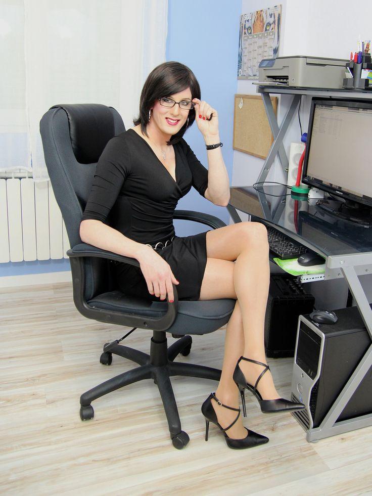 Image Result For Crossdresser Office Girl Working Tv Cd