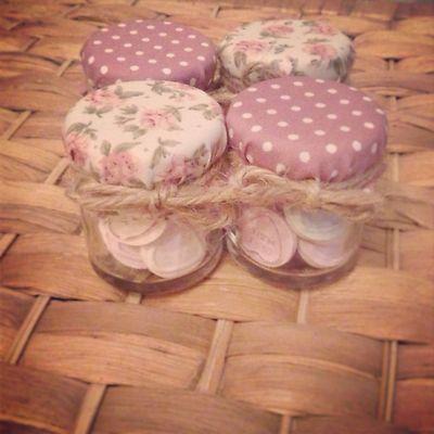 Mini 1.5oz Jam Jar Wedding Christening by RaggedShab on Etsy, £0.99