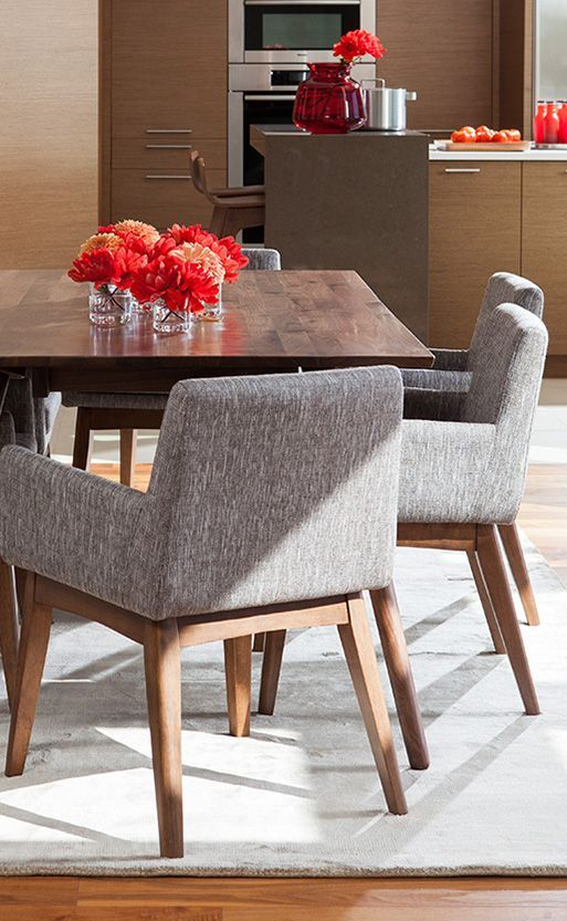 CHANEL chairs. A sophisticated and classic neutral to pair with your sumptuous reds.
