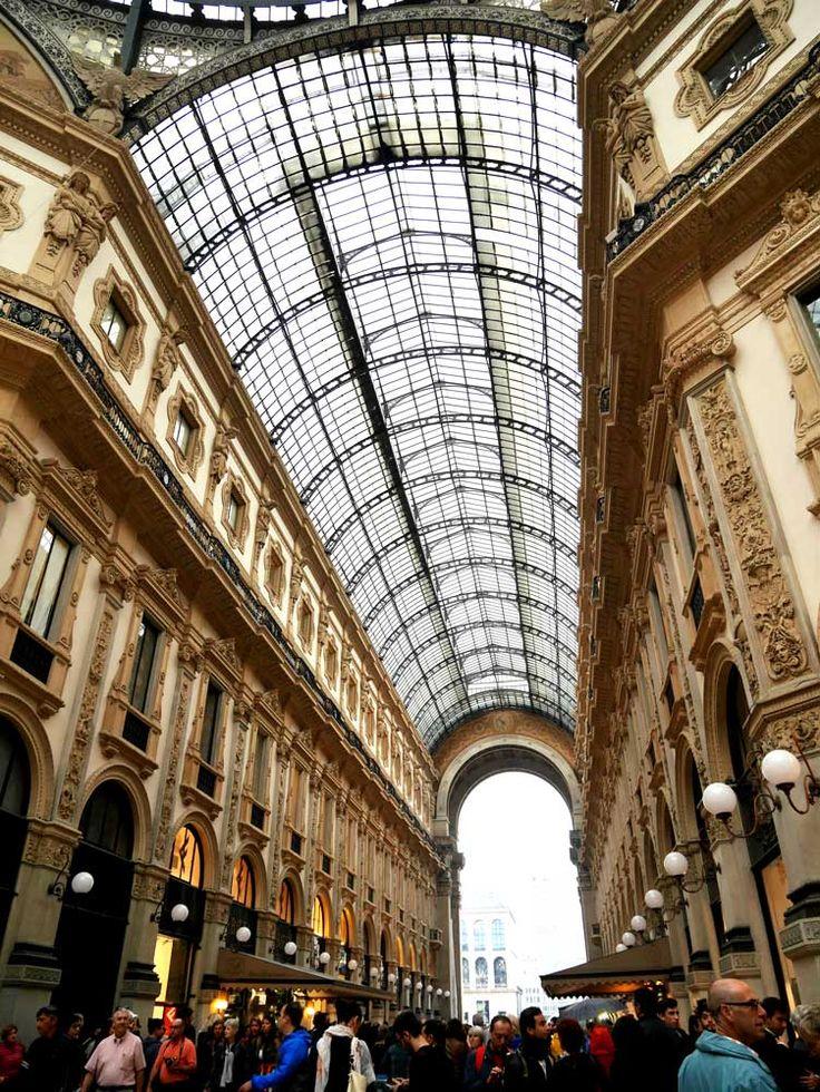 Galleria Vittorio Emanuele II in Milan, Italy - look at that glass ceiling!