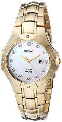 Seiko Womens SUT168 Analog Display Japanese Quartz Gold Watch