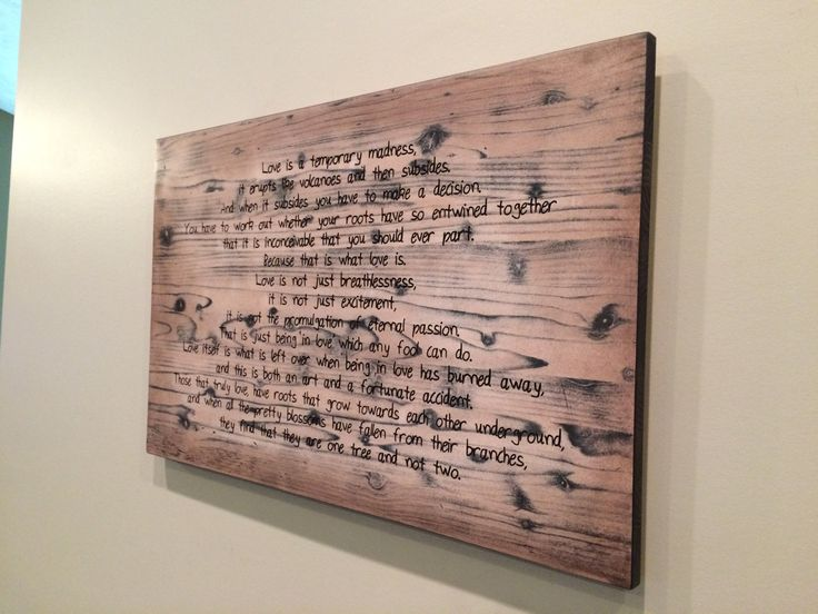Personalized Wood Wall Art 40 best quotes and poetry decor images on pinterest | poetry, wood