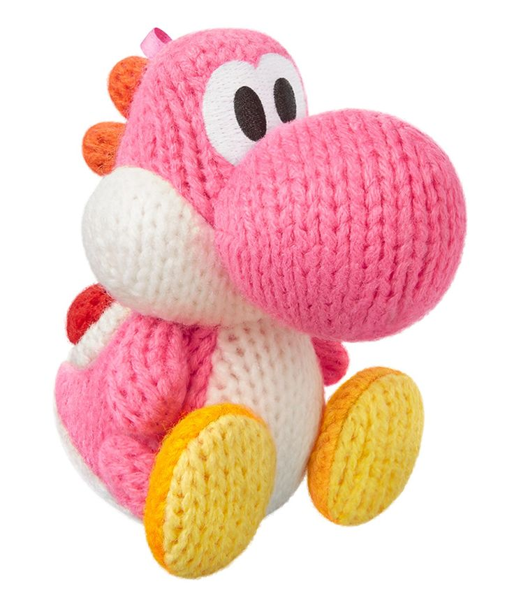 Amiibo Rose Fil Yoshi (Yoshi's Woolly World Series) for Nintendo Wii U, Nintendo 3DS/Pink