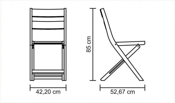 Cadeira Dobrável Madeira Tauarí e Acabamento Stain - Varanda Tropical - 13842083 : Madeira - Cadeiras   Tramontina