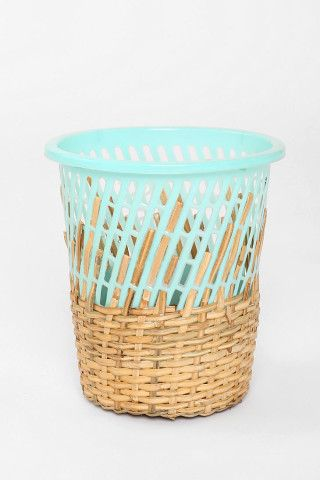 Half-Weave Contrast Top Trash Can for $49 @ urbanoutfitters.com