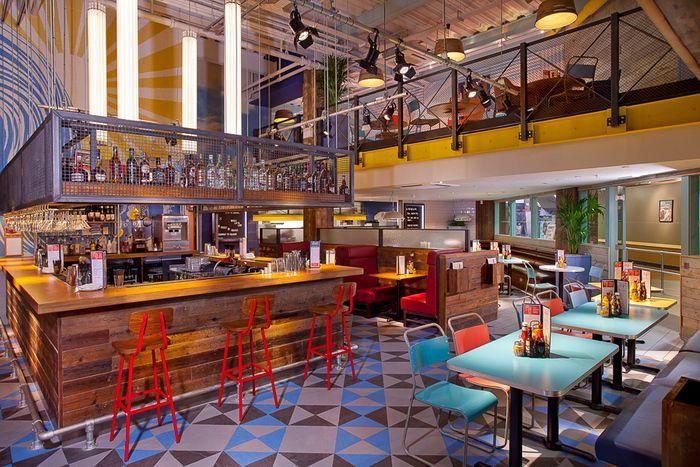 Burgers & Cocktails by Giraffe (Castleford) by Harrison | Restaurant & Bar Design Awards