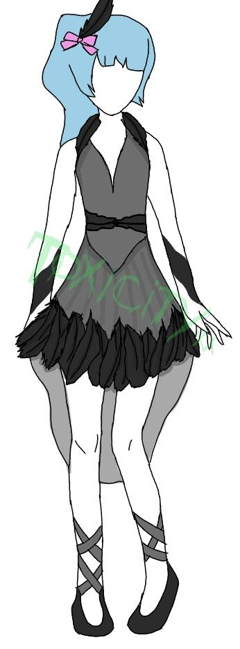 An original design I did inspired by a black swan/bird type theme