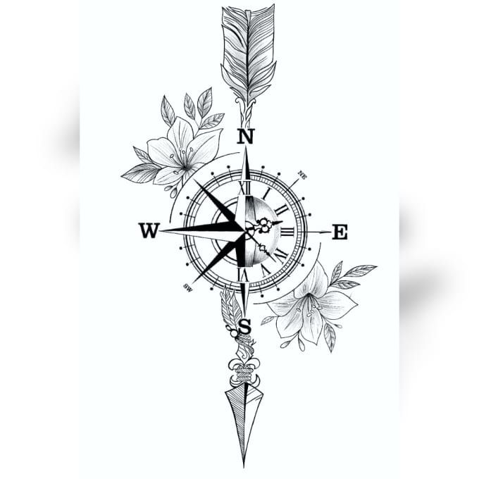 Graphic Design Services Hire A Graphic Designer Today Fiverr In 2020 Compass Tattoo Design Minimal Tattoo Design Tattoo Designs And Meanings