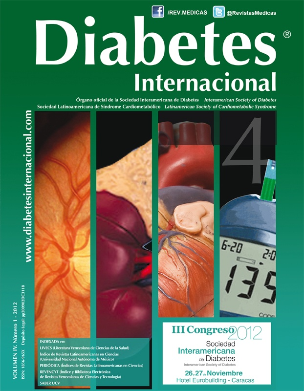 Revista Diabetes Internacional 2009 - 2012 disponible en Saber UCV: Repository Saber, Available In, Saber Ucv, Diabetes Internacional, Revista Diabetes
