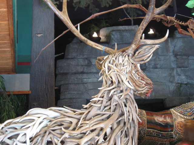 Antler Animal Statue Jackson Hole Wy Trip Out West