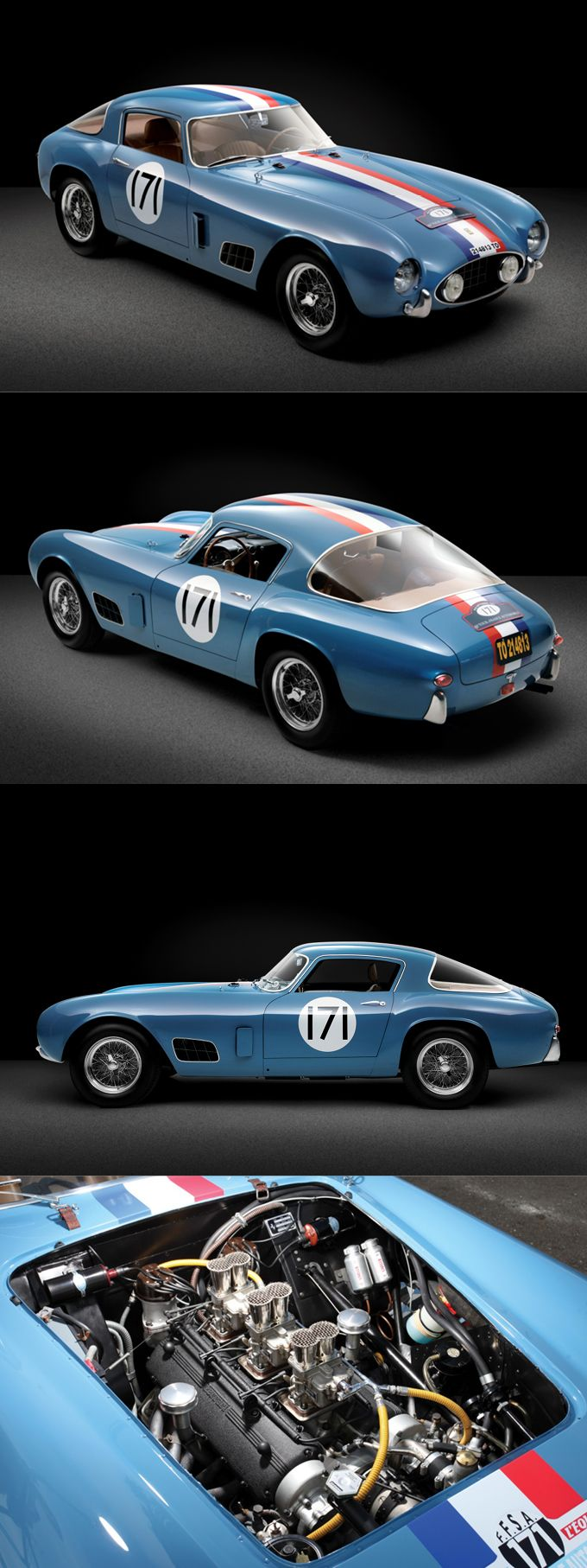 1956 Ferrari 250 GT Tour de France / TdF / Italy / blue red white / 17-285