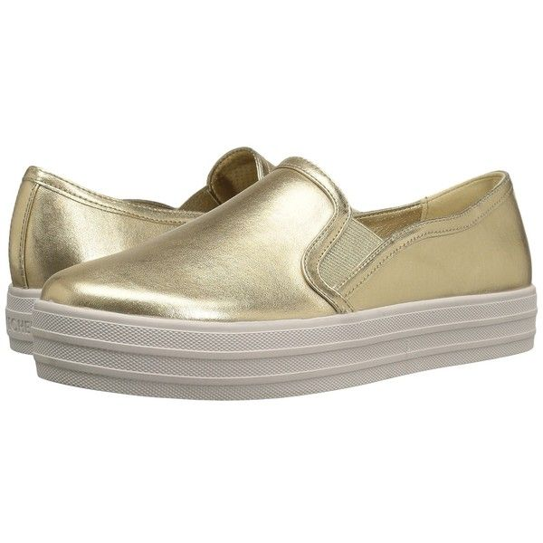 SKECHERS OG 97 - Metallic Moo (Gold) Women's  Shoes ($60) ❤ liked on Polyvore featuring shoes, slip resistant slip on shoes, low profile shoes, slip on shoes, skechers footwear and grip shoes