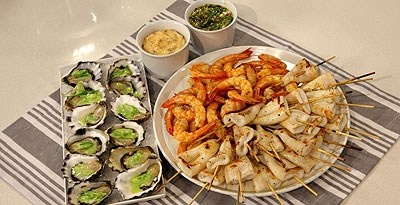 13 best something small images on pinterest christmas recipes seafood platter with chimichurri sauce and chipotle mayonnaise recipe from lifestyle food tv show lyndeys cracking christmas forumfinder Choice Image