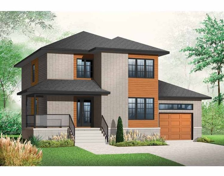 Home Plan HOMEPW75534 - 1768 Square Foot, 3 Bedroom 2 Bathroom Contemporary-Modern Homes Home with 1 Garage Bay | Homeplans.com