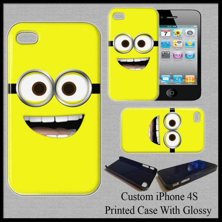 New Hot Hard Case Cover For iPhone 4S Minion Jerry Dave Fit For Gift