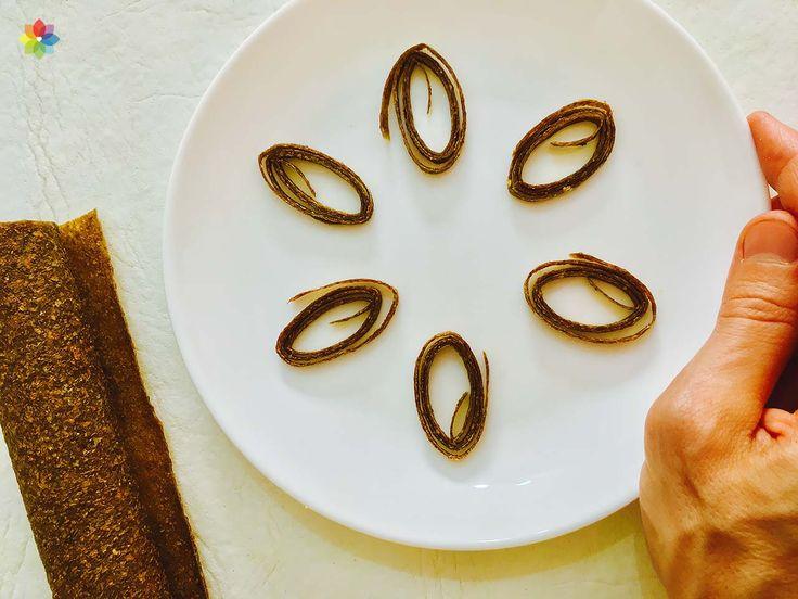 Deshidratados: Cuero flexible de frutas, para degustación en clase 8 http://www.conscienciaviva.com/recetas/receta/knishes/