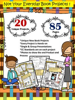This+Huge+Bundle+contains+over+80+pages+and+has+20+different+projects+students+can+complete+on+their+own+or+in+Centers+or+Stations+and+present+and+share+with+the+class.+This+is+NOT+your+average+Book+Project+!+In+this+HUGE+Book+Project+Bundle+you+will+find+20+unique+book+projects+that+will+stimulate+and+engage+your+students+as+they+dissect+and+analyze+literature.