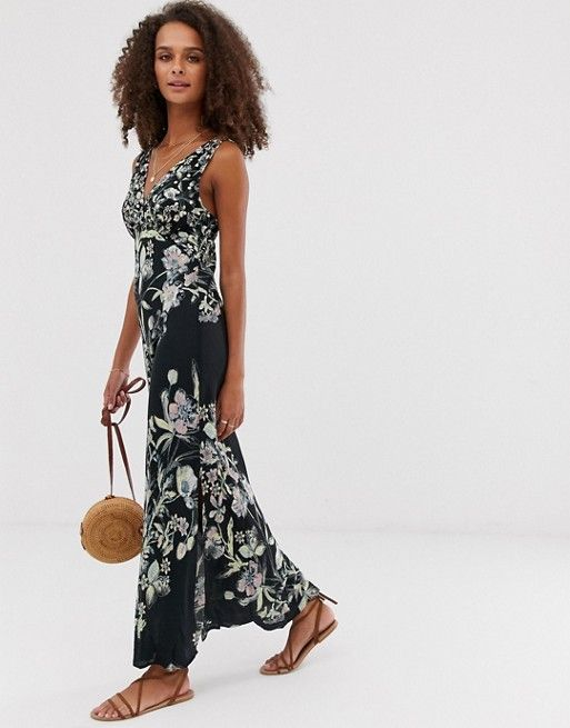 717980eb4938 Free People Never Too Late floral print midi dress in 2019 ...