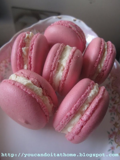 You can do it... at home!: Rosewater Buttercream Macaron - Dare I compare to Laduree?
