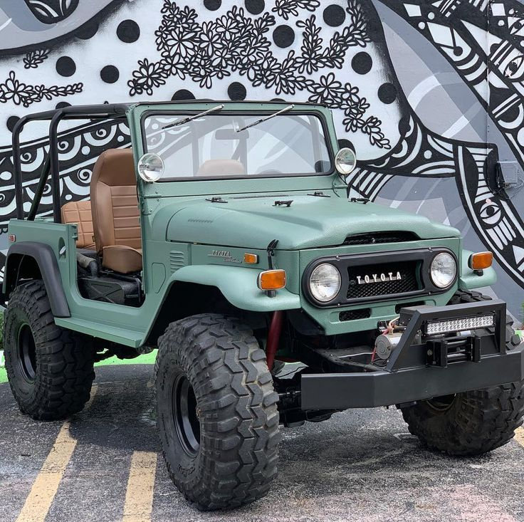 "Steve Odyssee.fajardo on Instagram: ""About to take the Uber Technologies Inc. outta wynwood' 1973 Toyota FJ40 Land Cruiser For Sale @miamicargarag…"