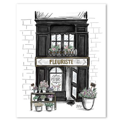 Fleuriste - Print. French inspired home decor. Florist decor, Provence. Stunning wall art