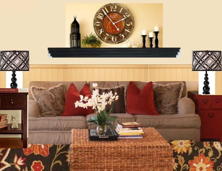 Wall Decor Ideas Behind Couch : Best ideas about shelves above couch on