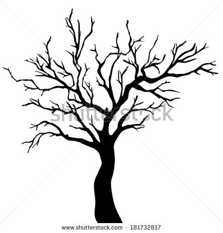 Tree Silhouette Black Stock Photos, Images, & Pictures | Shutterstock