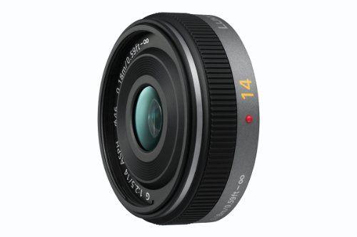 Panasonic H-H014E Pancake-Objektiv Lumix G F2,5/ 14 mm (28 mm KB, 46 mm Filtergewinde) schwarz