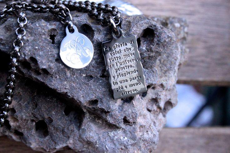 collana pergamena paradiso personalizzabile  lavorato a mano da artigiani fiorentini laminato argento  nikel free edizione numerata. di MartyBijouxFirenze su Etsy