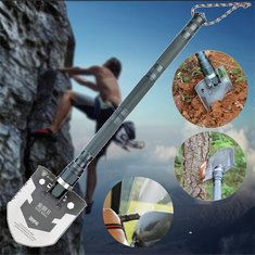 IPRee Updated Version Outdoor Multifunctional Shovel Camping Adventure Emergency Combination Tool shovel