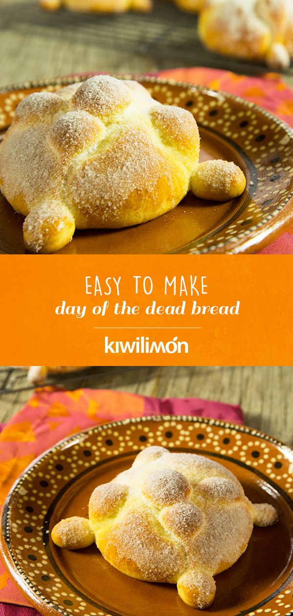 Prepare this spongy and sugary easy bread of the dead. We teach you step by step how to do it so that you delight everyone at home with its incomparable flavor. It was never easier to make delicious home-made bread. Mexican Pastries, Mexican Sweet Breads, Mexican Bread, Mexican Food Recipes, Sweet Desserts, Healthy Desserts, Just Desserts, Sweet Recipes, Spanish Desserts